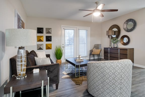 Modern Living Room at Terraces at Southaven, Mississippi, 38671