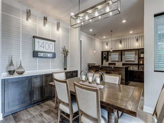 Dining Area at 1400 Chestnut, Chattanooga, TN, 37402