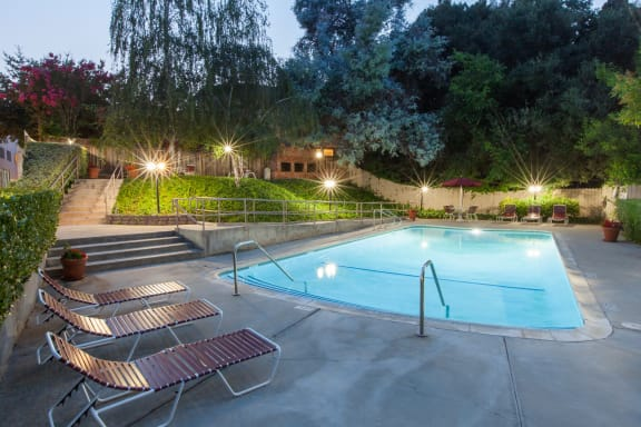 Relaxing Swimming Pool With Sundeck at The Glens, California, 95125