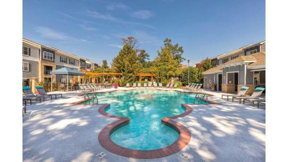 Glimmering Pool at Carolina Point Apartments, Greenville, SC, 29607