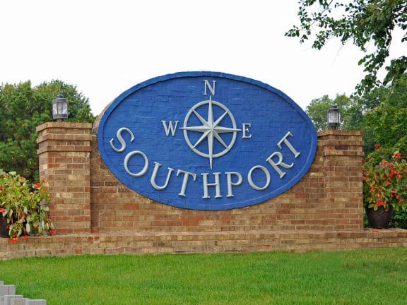 Entrance Sign at Southport Apartments, Michigan