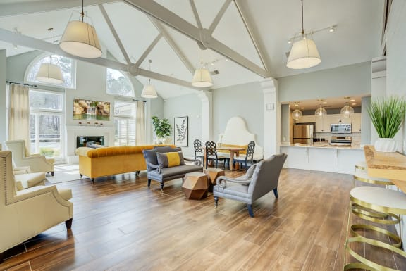 Bright Airy Clubhouse Design at Trophy Club at Bellgrade, Virginia, 23113