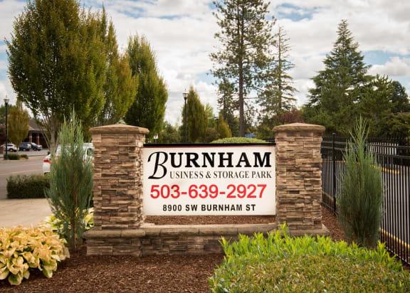 Burnham Storage Property Entry Monument Sign