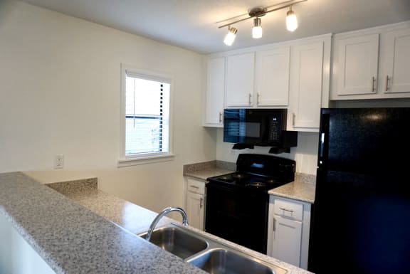 Vacant Kitchen at Hilltop Commons Apartments in San Pablo CA