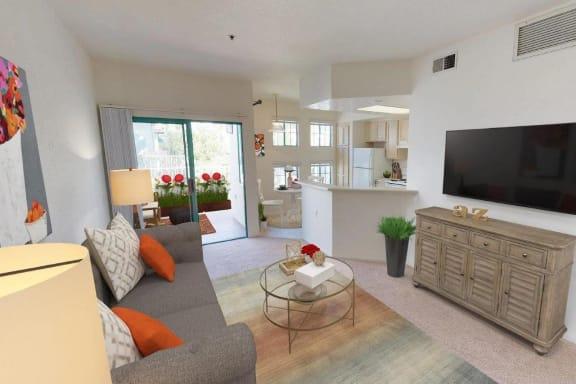 Open Living Room at Rancho Franciscan Senior Apartments, California, 93105