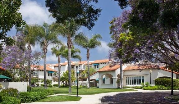 Community grounds at Rancho Franciscan Senior Apartments, Santa Barbara, CA