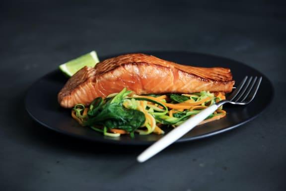 Seafood Plate at Rancho Franciscan Senior Apartments, Santa Barbara, CA, 93105