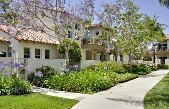 Scenic Garden Pathways at Rancho Franciscan Senior Apartments, Santa Barbara