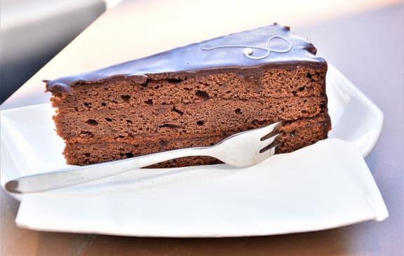 Chocolate Cake Dessert at Cypress Meadows Senior Apartments, Ventura