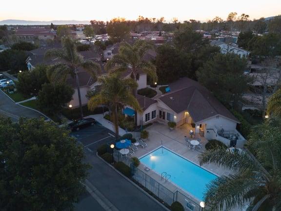 Aerial View Community at Cypress Meadows Senior Apartments, California