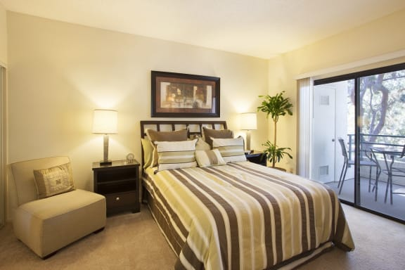 Comfortable Bedroom at Cypress Point Apartments, California
