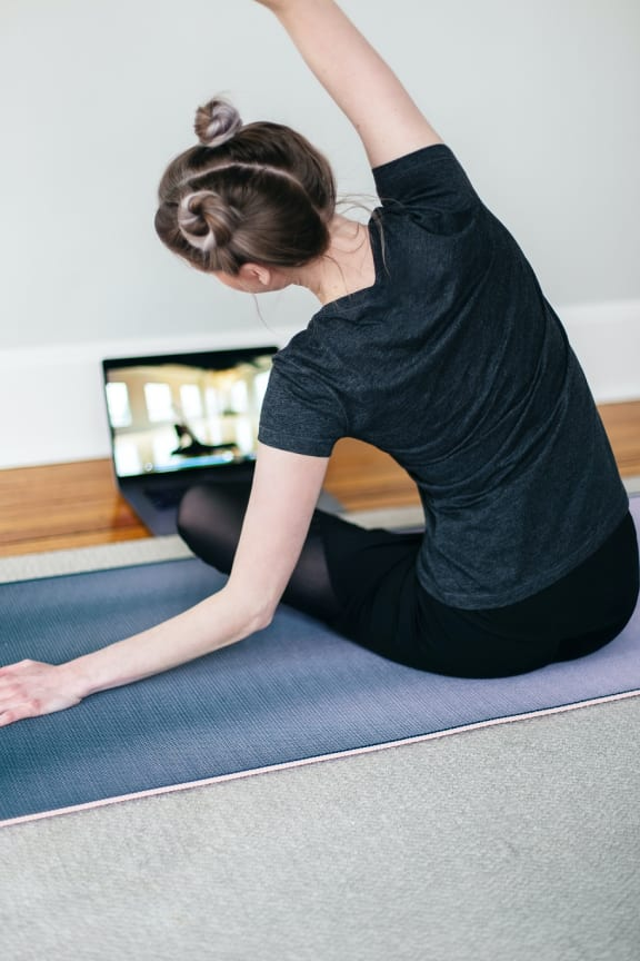 Workout Yoga at Cypress Point Apartments, Ventura, California