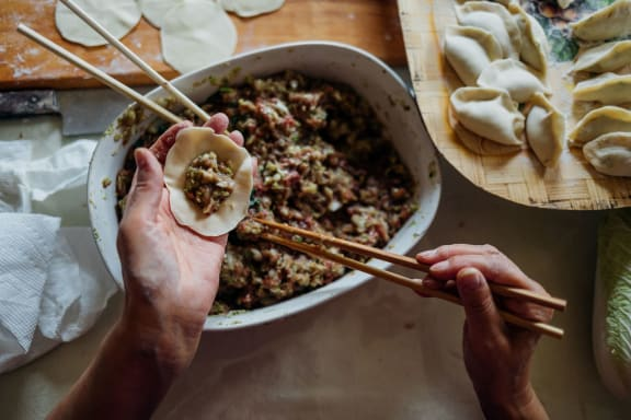 filling_dumplings at Shepard Place, Carpinteria, 93013