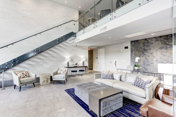 Posh Lounge Area In Clubhouse at Rivergate, Virginia