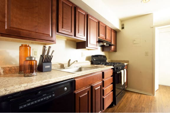 Renovated Kitchens at Brook View Apartments Baltimore MD 21209