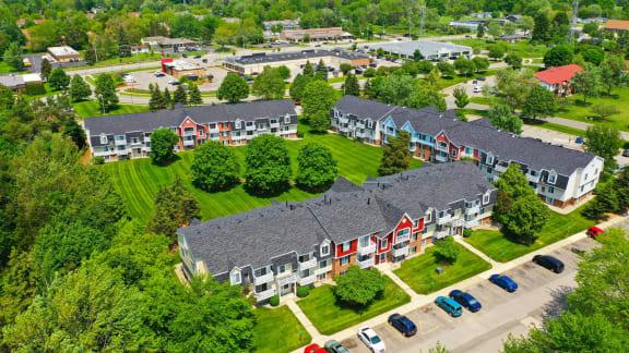 Aerial View of Community at Apple Ridge Apartments, Walker, 49534
