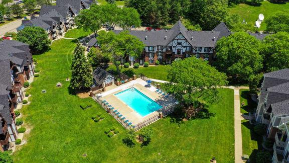 Invigorating Swimming Pool at Swiss Valley Apartments, Wyoming, Michigan