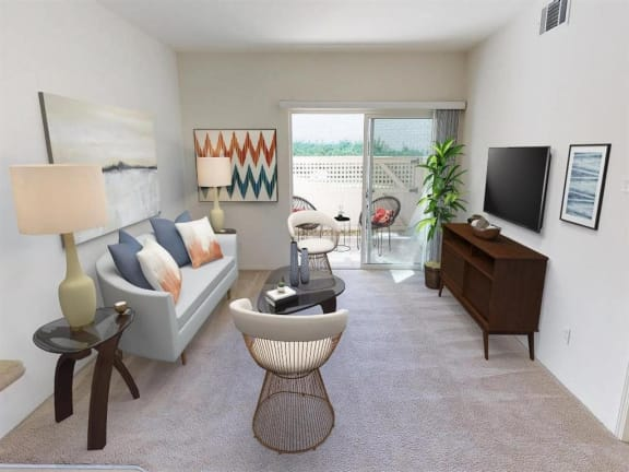 Balcony at Knollwood Meadows Apartments, Santa Maria, CA