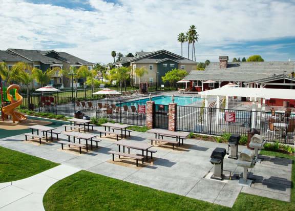 BBQ_area at Sumida Gardens Apartments, Santa Barbara, 93111
