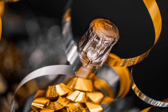 champagne bottle at Sumida Gardens Apartments, California, 93111