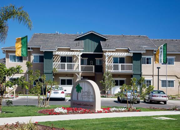 Property Signage at Sumida Gardens Apartments, Santa Barbara, CA