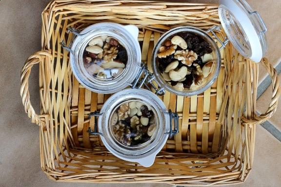 snacks_assorted_nuts_in_jars at Sumida Gardens Apartments, Santa Barbara, CA, 93111