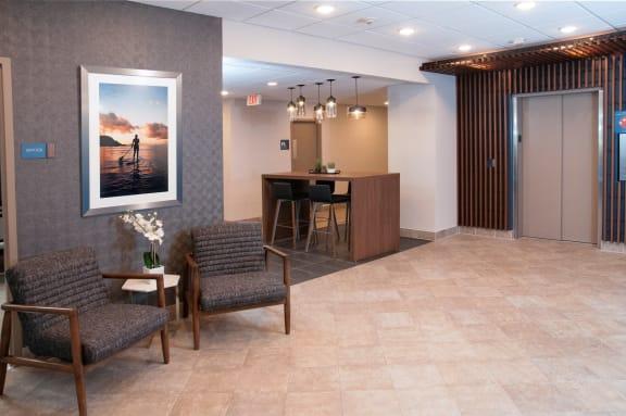 Lobby Area at Calhoun Towers, Minnesota, 55416