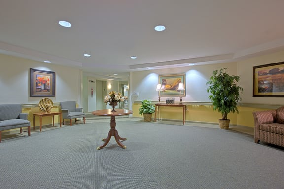 Lobby Area Affordable Apartments