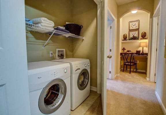 Full-Sized Washer And Dryer at Rose Heights Apartments, Raleigh, NC