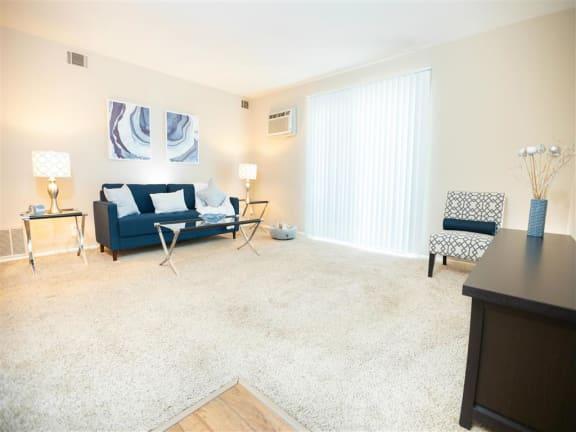 Modern Living Room at The Greenway at Carol Stream, Illinois