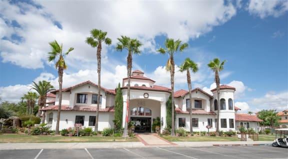 Front Exterior at Dominion Courtyard Villas, Fresno