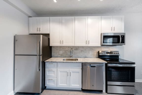 Renovated Kitchen at Connecticut Plaza Apartments in Washington, DC
