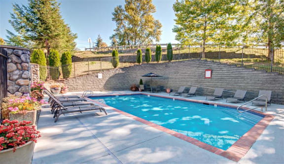 Pool Deck at Willina Ranch, Bothell, 98011