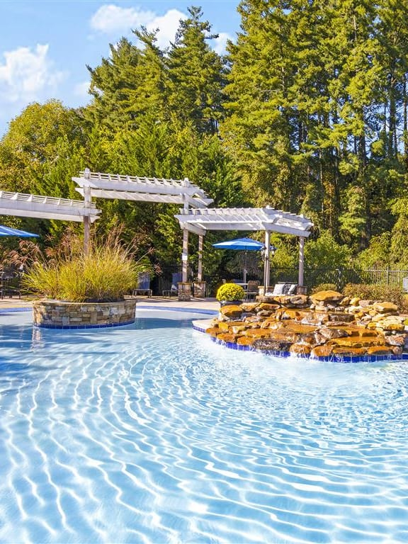 Glimmering Pool and Lounge Charis at Walden Legacy Apartments, Knoxville