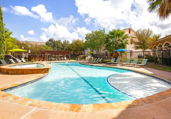 Sparkling Swimming Pool and Spa at Walnut Ridge, Bastrop
