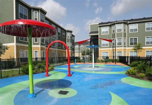 Splash Pad at Estates at Hollister Apartments, Houston, Texas