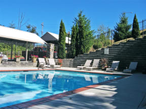 Poolside Sundeck and Grilling Area at Willina Ranch, Bothell, WA 98011