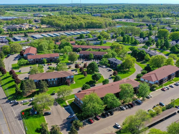 Aerial Neighborhood View at Seville Apartments, Michigan