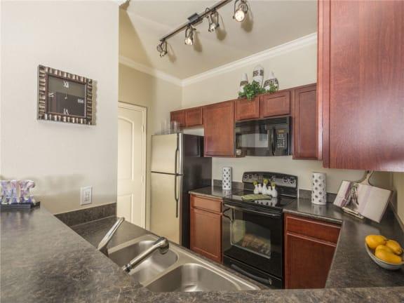 Fully equipped kitchen at Tiburon, Houston, TX,77064