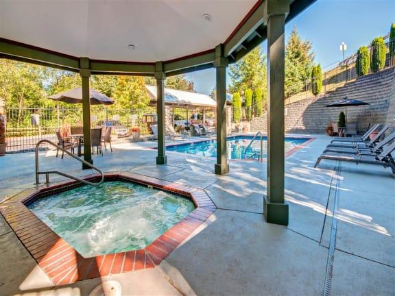 Soothing Spa/ Hot Tub at Willina Ranch, Bothell,Washington