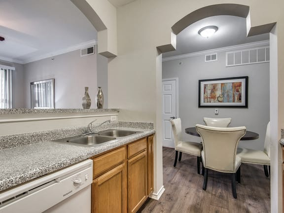 Open concept kitchen at Kensley Apartment Homes