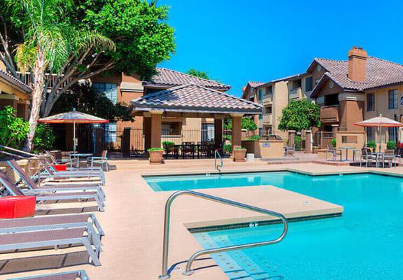 Pool Side at Garden Grove Apartments, Tempe, AZ, 85283