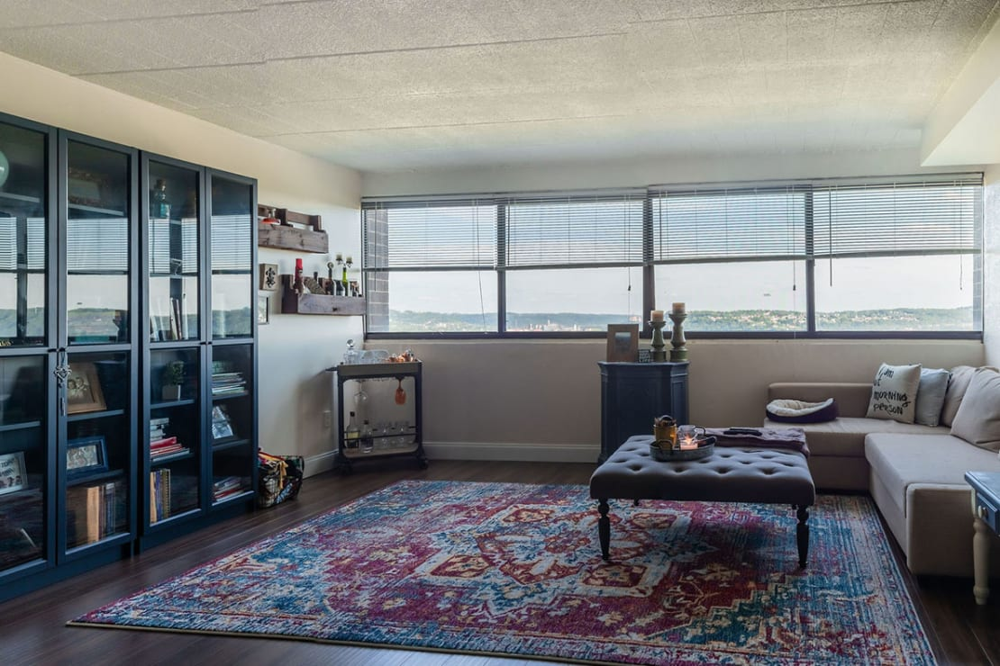 Living Room with a View, at Walnut Towers at Frick Park, Pittsburgh PA