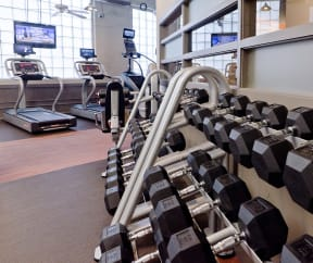 The Ovaltine Court fitness center is open 24-7.