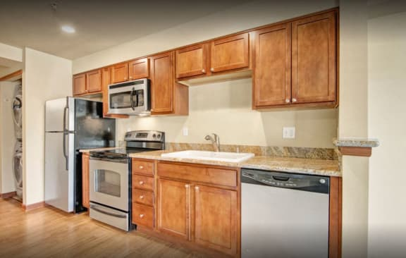 Aventine Apartments Kitchen Sink and Appliances