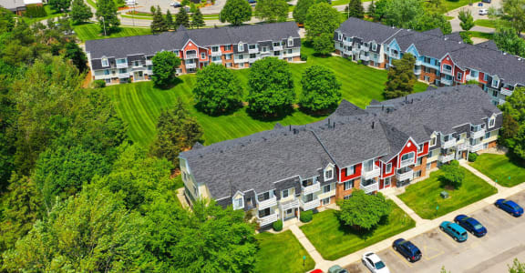 Beautiful Landscaping and Park-like Setting at Apple Ridge Apartments, Michigan, 49534