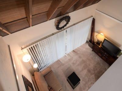 living room and sliding glass door