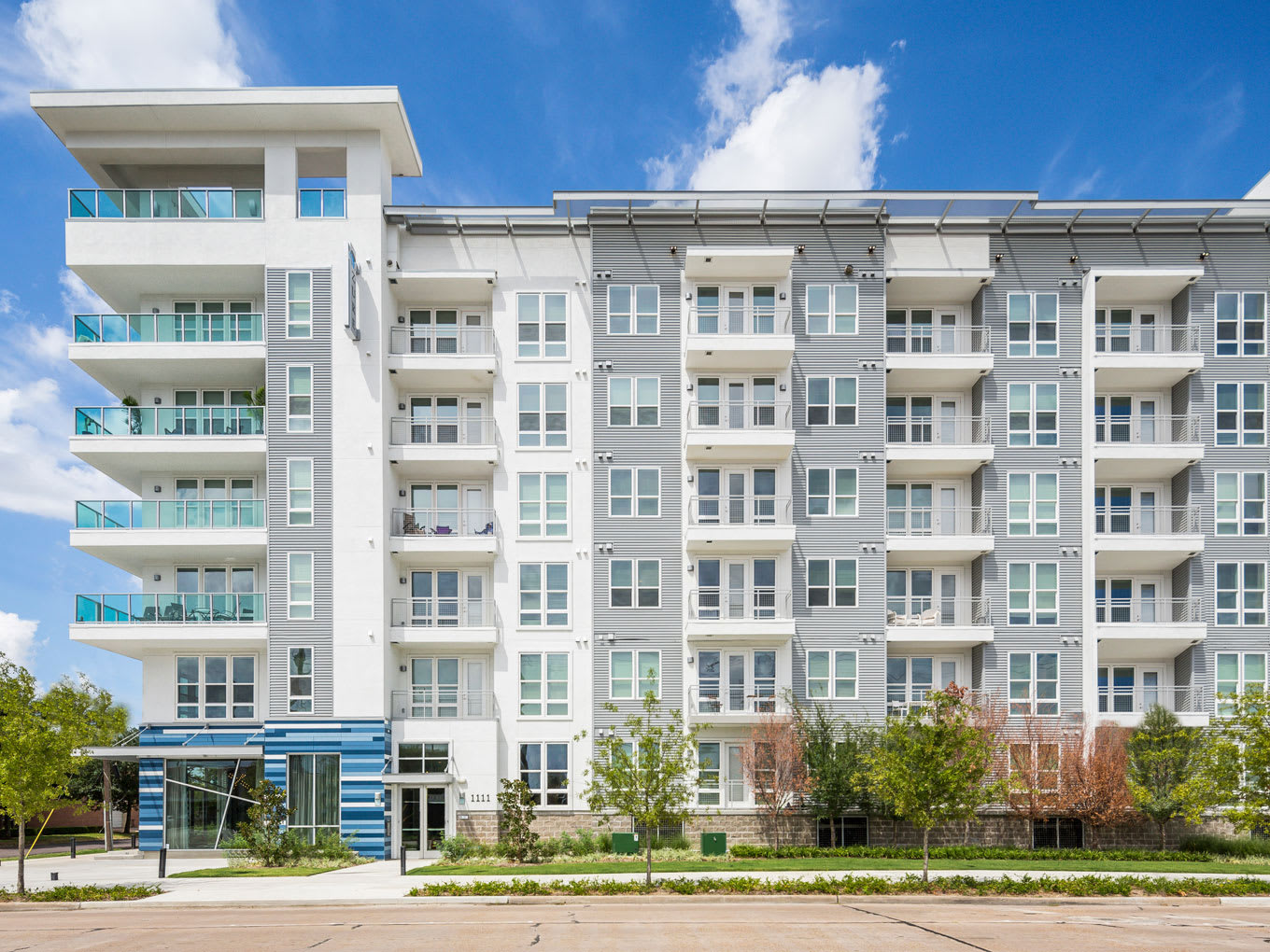 Exterior View of Property at Azure Houston Apartments, Houston, Texas