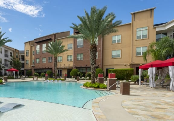 Resort style pool at Domain by Windsor, Houston, TX