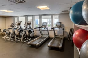 Treadmill and Stationary Bikes in our Fitness Center   2828 Zuni